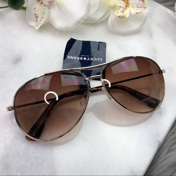 ce1bed49da088 Lucky Brand Dawn Aviator Sunglasses Gradient Lense